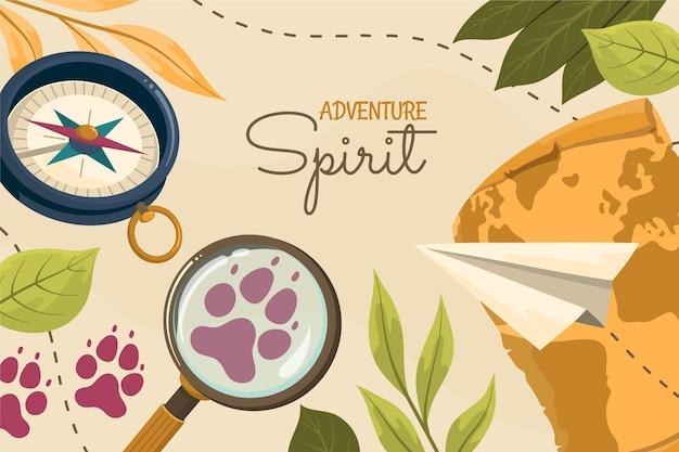 Fond d'aventure détaillée créative