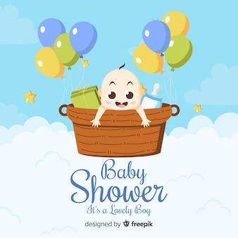 Fond baby shower belle