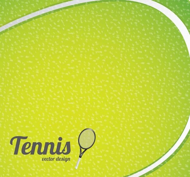 Fond de balle de tennis