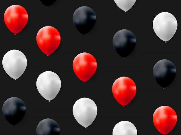 Fond de ballon abstrait joyeux anniversaire