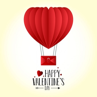 Fond de ballon coeur saint-valentin