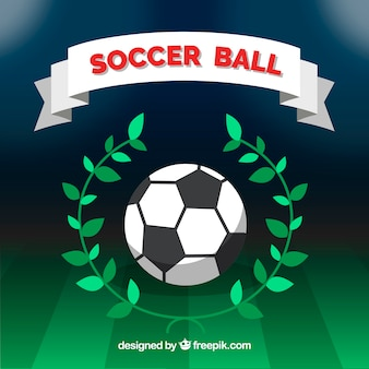 Fond de ballon de football avec champ