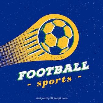 Fond de ballon de football dans le style grunge