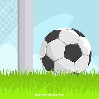 Fond de ballon de football dans un style plat
