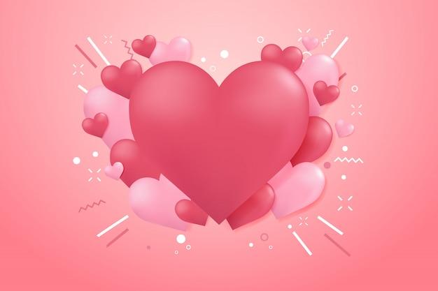 Fond de ballon forme coeur