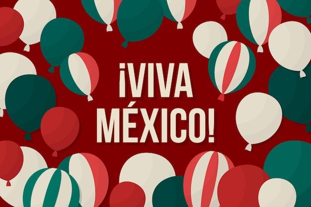 Fond de ballon de l'indépendance du mexique