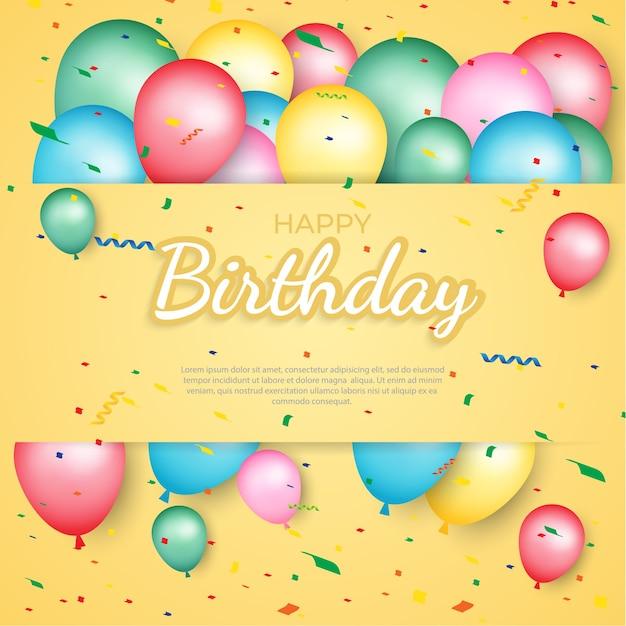 Fond de ballon joyeux anniversaire