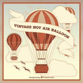 Fond de ballons à air chaud dans le style vintage