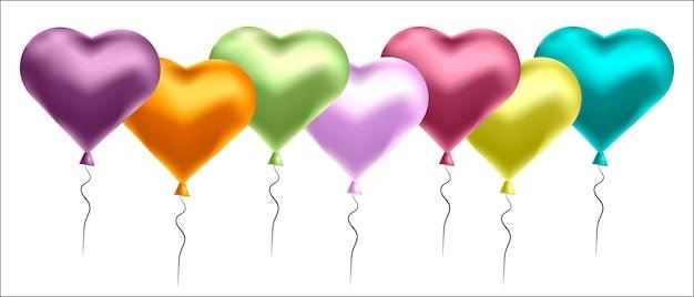 Fond de ballons colorés