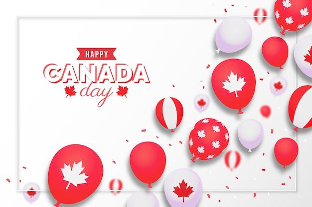 Fond de ballons dégradé de la fête du canada