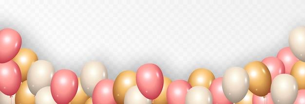 Fond avec des ballons de fête ballons de vecteur anniversaire de vacances ballons png