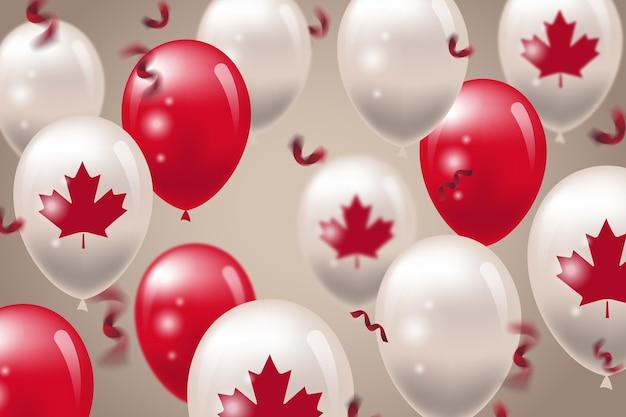 Fond de ballons de la fête du canada