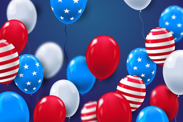 Fond de ballons de fête de l'indépendance
