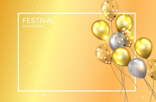 Fond de ballons de fête pour profiter de l'événement