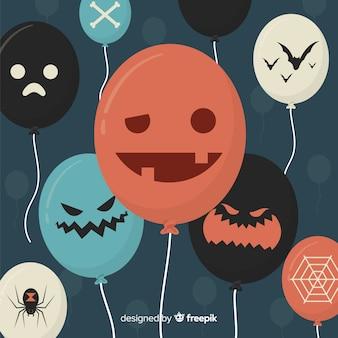 Fond de ballons d'halloween