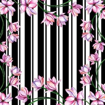 Fond de bande aquarelle floral valentine