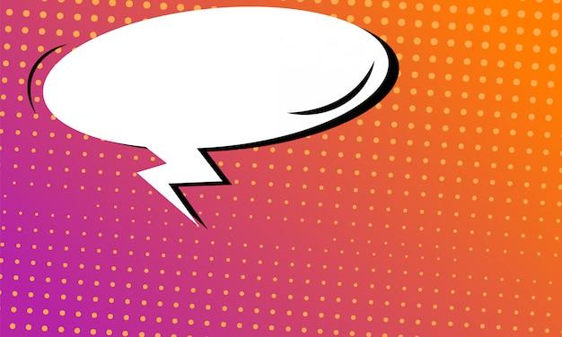 Fond de bande dessinée avec bulle de dialogue