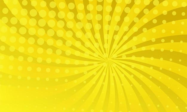 Fond de bande dessinée de couleur jaune