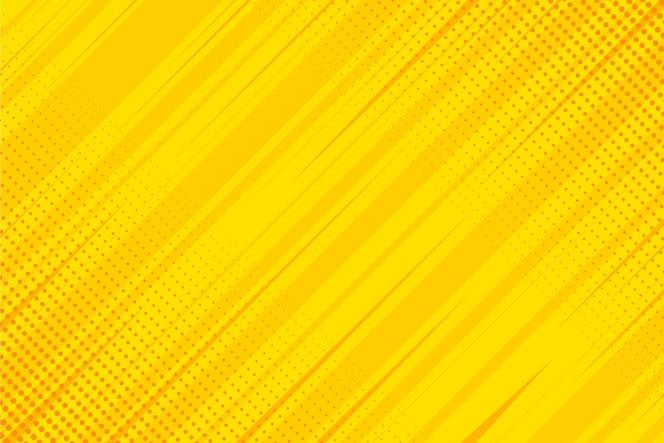Fond de bande dessinée jaune design plat