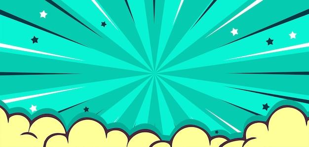 Fond de bande dessinée pop art avec nuage et étoile
