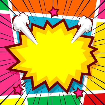 Fond de bande dessinée pop art panneau coloré
