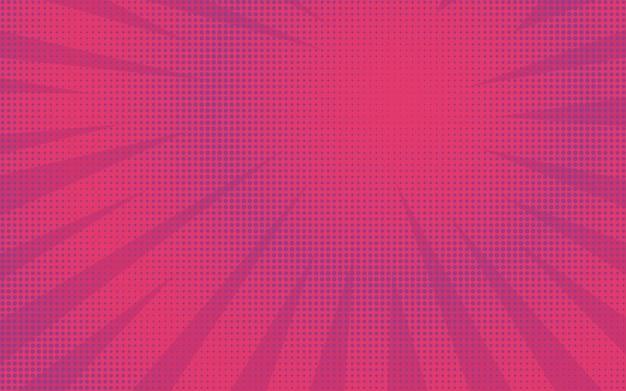 Fond de bande dessinée rétro brillant rayé rose abstrait