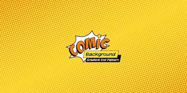Fond de bande dessinée rétro, motif de demi-teintes pop art