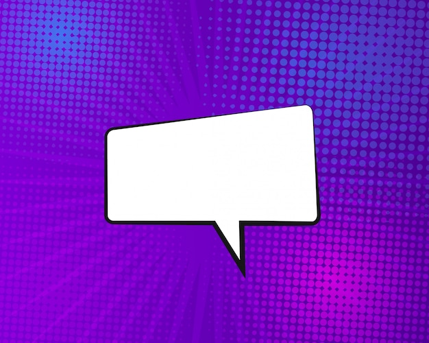 Fond de bande dessinée de vecteur avec bulle de dialogue