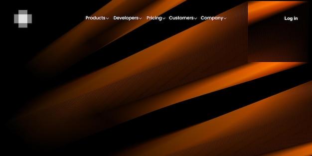 Fond de bannière abstrait avec des formes oranges pour la page de destination