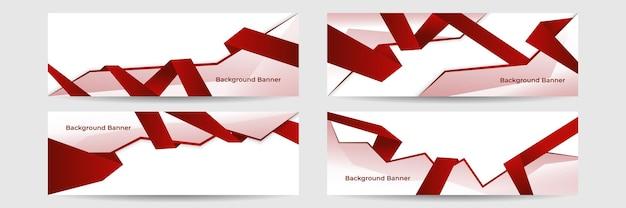Fond de bannière abstrait rouge moderne
