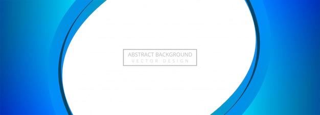 Fond de bannière abstraite créative vague bleue