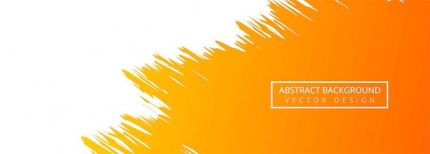 Fond de bannière aquarelle abstraite orangel