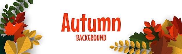 Fond de bannière d'automne avec des feuilles d'automne