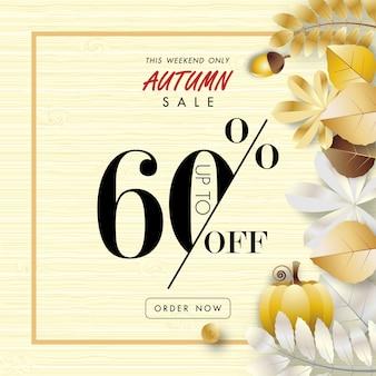 Fond bannière automne vente