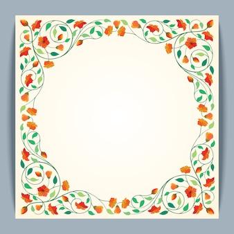 Fond de bannière beau cadre rond vecteur fleur