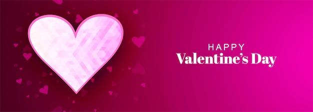 Fond de bannière beau coeur saint valentin