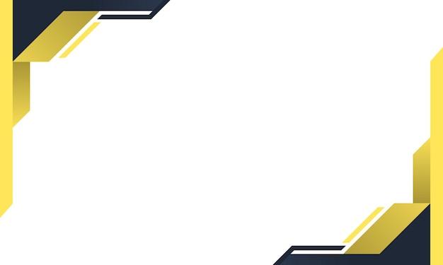 Fond de bannière bleu et jaune moderne illustration vectorielle