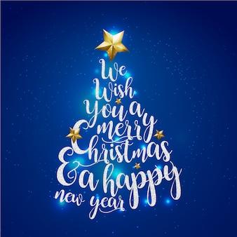Fond De Bannière Bleu Joyeux Noël Vecteur Premium