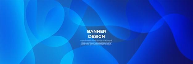 Fond de bannière bleu moderne. modèle de fond de modèle de bannière de conception graphique abstraite de vecteur.