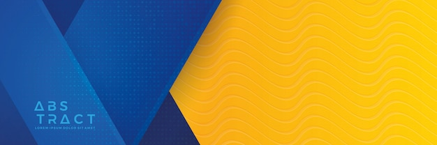 Fond de bannière bleu et orange