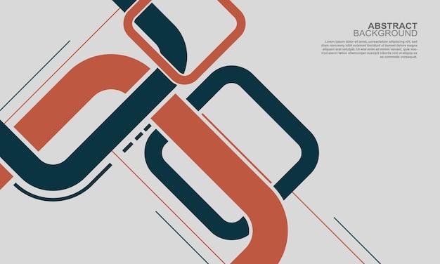 Fond de bannière de carrés arrondis bleus et rouges modernes. illustration vectorielle.
