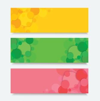 Fond de bannière de cercle de couleur abstraite
