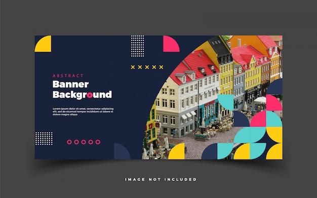 Fond de bannière colorée pour le web de médias sociaux ou pour la promotion publicitaire avec bannière abstraite