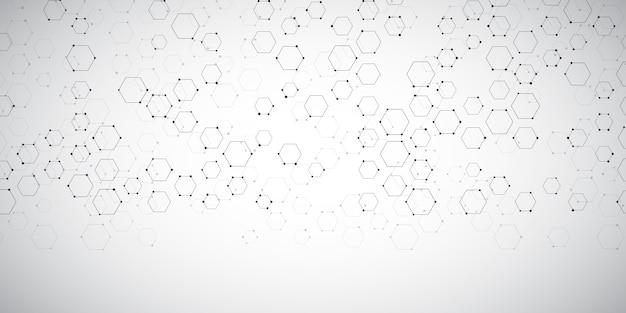 Fond de bannière avec conception de connexions abstraites