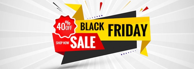 Fond de bannière étiquette black friday sale