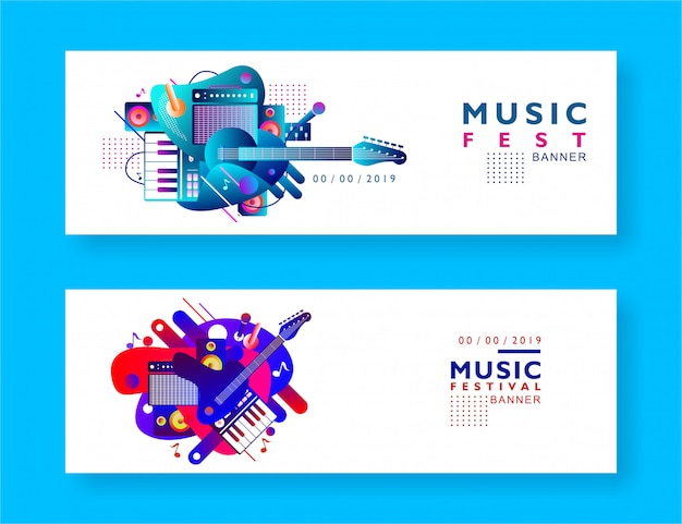 Fond de bannière de festival de musique
