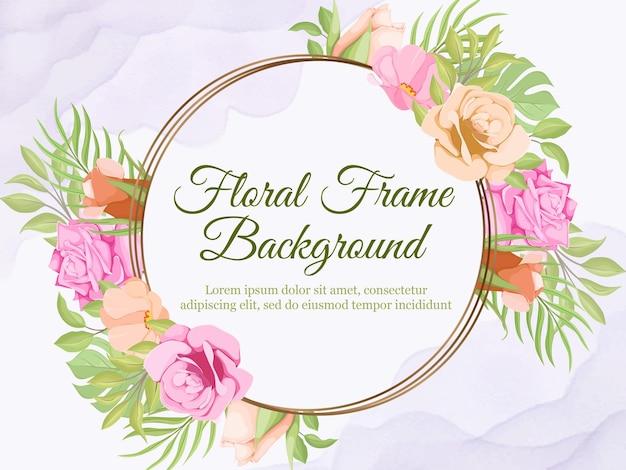 Fond de bannière florale pour femmes et décoration de mariage