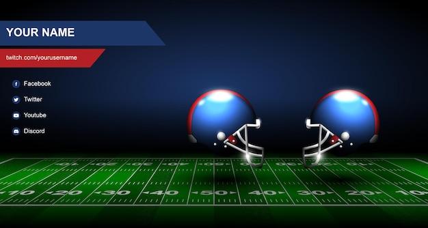 Fond de bannière de football twitch illustration vectorielle
