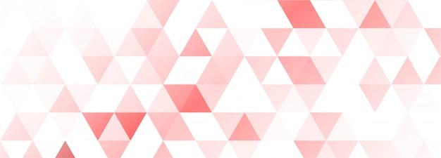 Fond de bannière de formes géométriques colorées modernes
