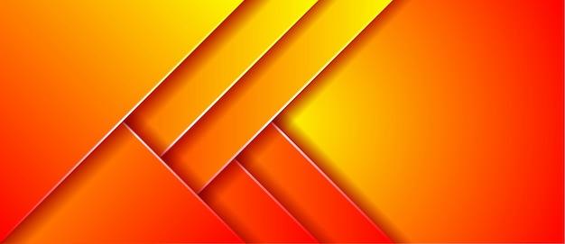 Fond de bannière géométrique moderne dégradé abstrait
